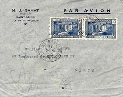 1938- Enveloppe De Saint-Denis  PAR AVION Affr. à 4,50 F  Pour Paris - Covers & Documents