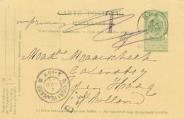 ZZ674 - Entier Postal Armoiries (verso 1830/1905 Vert - Non écrit) SPA 1905 Vers DEN HAAG NL - TARIF IMPRIME Taxe Barrée - Entiers Postaux