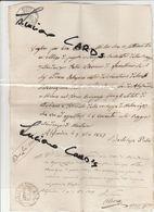 GF1) FOGLIO DI PAGAMENTO VAGLIA 1849 PER LIRE 22.000 !!! PROVINCIA LOMELLINA ALESSANDRIA SISTEMAZIONE STRADA  TRA ALESSA - Documenti Storici