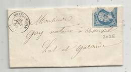 Lettre , 1862 , MONFLANQUIN , STE LIVRADE , 3 Scans - 1849-1876: Période Classique