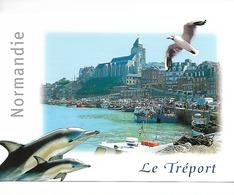 76 600 LE TREPORT : Le Port - Dauphins Et Goéland  / CPM MAGE N° 763.128 J écrite Non Datée / TTBE Soldée - Le Treport