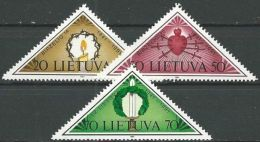 LITAUEN 1991 Mi-Nr. 477/79 ** MNH - Lithuania