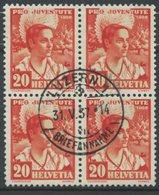 1809 - 20 Rp. Schwyzerin Mit Zentrumstempel LUZERN 1 31.V.37 - Pro Juventute