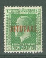 Aitutaki: 1917/20   KGV 'Aitutaki' OVPT   SG19   ½d     MH - Aitutaki