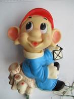DISNEY - Abat Jour In Gomma NANO CUCCIOLO - Rubber Toy DWARF DOPEY - LEDRA LEDRAPLASTIC - Altre Collezioni