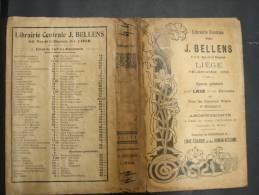 BuAut. 22. Protège Livre Avec Publicité Librairie Centrale J. BELLENS à Liège - Autres Collections
