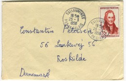 1958 Berthollet 35 F Seul Sur Lettre Vers Le Danemark - Frankreich