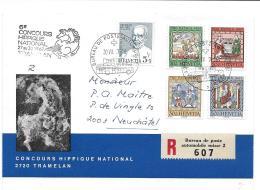 """112 - 1 - Enveloppe  Avec Dessin D'Erni - """"Concours Hippique National Tramelan"""" Avec Oblit Spéciale - Postmark Collection"""