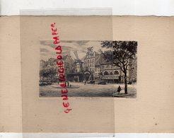 75- PARIS- 18 EME- PLACE BLANCHE - BELLE GRAVURE LITHOGRAPHIE EAU FORTE -MOULIN ROUGE- CAFE CYRANO-EDITEUR DELAHAYE - Litografía