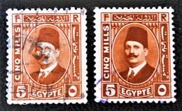 ROYAUME - ROI FOUAD 1ER 1927/32 - OBLITERES - YT 122 - VARIETES D'OBLITERATIONS - Egypt