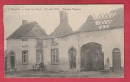 Roselies - Sous Les Obus - 22 Août 1914 Maison Vigenon - 192? ( Voir Verso, Oblitération Farciennes ) - Aiseau-Presles