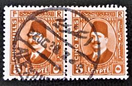 ROYAUME - ROI FOUAD 1ER 1927/32 - MAGNIFIQUE OBLITERATION SUR PAIRE - YT 122 - Egypt
