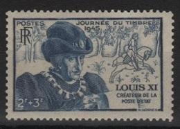 FR 1073 - FRANCE N° 743 Neuf** Journée Du Timbre Louis XI - Unused Stamps