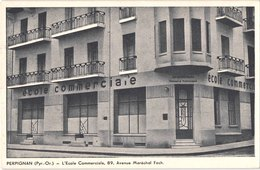 FR66 PERPIGNAN - Devanture - école Commercile Avenue FOCH - Belle - Perpignan