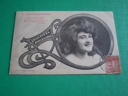 Bergeret Nancy, Frimousses Parisiennes, Je Règne Au Quartier Latin... Art Nouveau. N° 5.Convoyeur Aoste St Genix à Lyon - Künstlerkarten