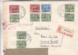 Pays Bas - Lettre Recom De 1941 ° - Oblit Amsterdam - Exp Vers Seestadt Rostock - Avec Censure - Periode 1891-1948 (Wilhelmina)