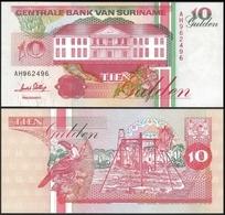 Suriname 10 GULDEN 1996 P 137b UNC - Surinam