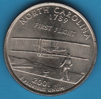 USA 25 CENTS 2001 D NORTH CAROLINA 1st FLIGHT AVION - 1999-2009: State Quarters