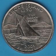 USA 25 CENTS 2001 D RHODES ISLAND 1790 BATEAU - 1999-2009: State Quarters