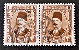 ROYAUME - ROI FOUAD 1ER 1927/32 - PAIRE OBLITEREE - YT 120 - Egypt