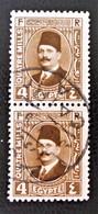 ROYAUME - ROI FOUAD 1ER 1927/32 - PAIRE VERTICALE OBLITEREE - YT 121A - Egypt