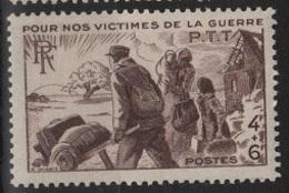 FR 1067 - FRANCE N° 737 Neuf** Victimes De Guerre Des PTT - France