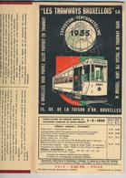 26/616 - Belgique Les TRAMWAYS BRUXELLOIS - Carte Complète Du Réseau Pour L' EXPO Universelle 1935 - Cartes