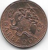*barbados 1 Cent 1980  Km 10  Unc - Barbados