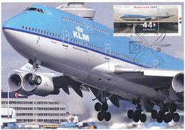 D33811 CARTE MAXIMUM CARD TRIPLE FD 2009 NETHERLANDS - BOEING 747 KLM AVIATION CP ORIGINAL - Airplanes