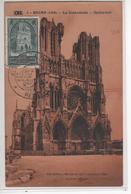 Carte Maximum Avec N°259 Cathédrale De Reims Oblitérée Journée Du Timbre 1949 - 1930-39