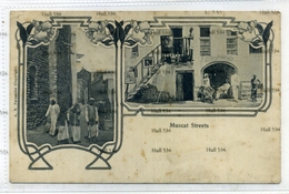 1900s Oman Muscat Postcard  Muscat Streets Stamp Removed 1910 Postcard By AR Fernandez - Oman