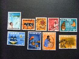 ZAMBIA ZAMBIE 1964 Petite Collection D'anciens Timbres Yvert N 1 6 7 8 9 11 12 13 14 FU - Zambia (1965-...)