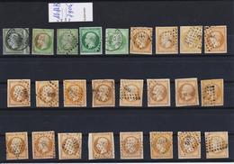 FRANCE N° 11 , 12 , Et 13 Obl. Divers. Tb D'aspect  ( Pas D'aminci ) Cote 780 Euros - Stamps