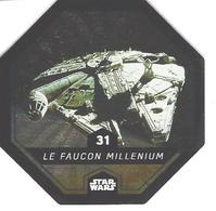 JETON LECLERC STAR WARS   N° 31 LE FAUCON MILLENIUM  Brillante Superbe - Power Of The Force