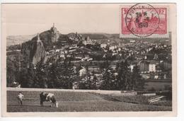Carte Maximum Avec N°290 Le Puy En Velay Oblitérée 5/6/49  Circulée Vers Decazeville - Cartes-Maximum