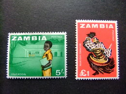 ZAMBIA ZAMBIE 1964 Petite Collection D'anciens Timbres Yvert N 15 -17 ** MNH - Zambia (1965-...)