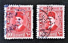 ROYAUME - ROI FOUAD 1ER 1927/32 - OBLITERES - YT 123 - TIMBRES PERFORES - Egypt