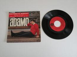 Salvator Adamo - Vous Permettez, Monsieur - Dans Le Vert De Ses Yeux (196!) - (Vinyle 45 T) Pathé Marconi - Vinyles