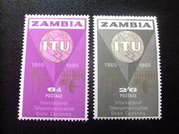 ZAMBIA ZAMBIE 1965 ITU Yvert N 18 / 19 ** MNH - Zambia (1965-...)