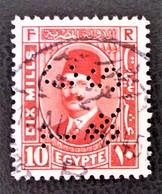 ROYAUME - ROI FOUAD 1ER 1927/32 - OBLITERE - YT 123 - TIMBRE PERFORE - Egypt