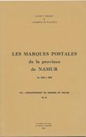 25/904 - BELGIQUE Les Marques Postales Province De NAMUR , Par HERLANT , 35 Pg ,1968 - Préphilatélie