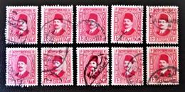 ROYAUME - ROI FOUAD 1ER 1927/32 - OBLITERES - YT 123A - VARIETES DE TEINTES ET D'OBLITERATIONS - Egypt