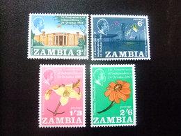 ZAMBIA ZAMBIE 1965 Anniversarie Independance Yvert N 22 / 25 ** MNH - Zambia (1965-...)