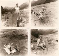 Lot De 4 Photographies Anciennes De La Vallée D'Ossau, Repos Au Pourtalet, Photos De 1962, Béarn, Pyrénées - Lieux