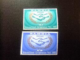 ZAMBIA ZAMBIE 1965 ONU Yvert N 20 / 21 ** MNH - Zambia (1965-...)