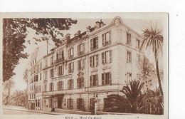 1 Cpa Nice Cimiez : Hôtel Carabacel, Façade Côté Entrée - Cafés, Hôtels, Restaurants