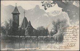 Kirche Und Stockhorn, Scherzligen, Thun, Bern, 1903 - Gabler U/B AK - BE Berne