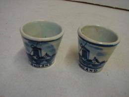 PaDe. 11 Deux Petits Pot En Céramique De Delft - Delft (NLD)