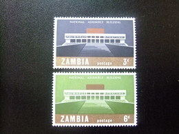 ZAMBIA ZAMBIE 1967 Inaguración Palacio Nacional Yvert N 30 / 31 ** MNH - Zambia (1965-...)