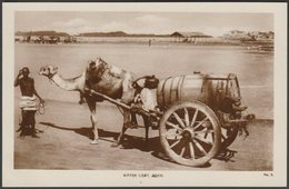 Water Cart, Aden, C.1920s - Lehem RP Postcard - Yemen